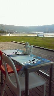 琵琶湖の湖畔でイタリアン